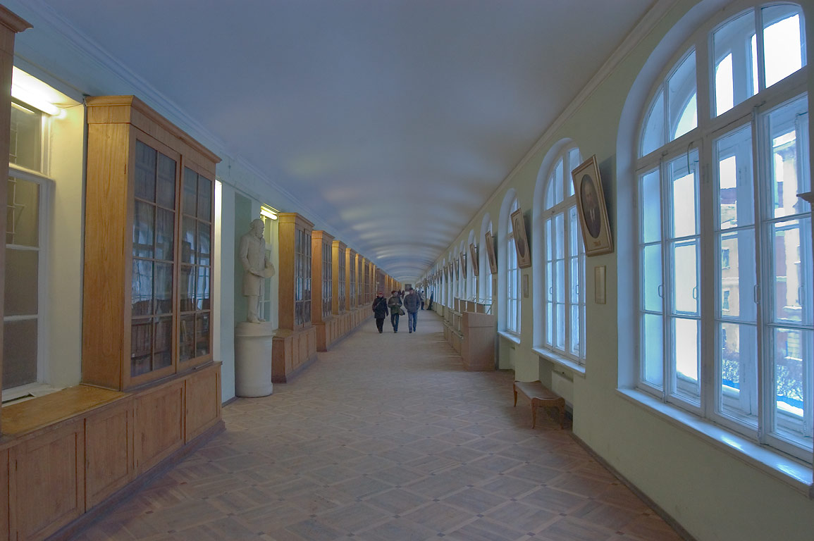 A corridor in the building of Twelve Collegiums...University). St.Petersburg, Russia