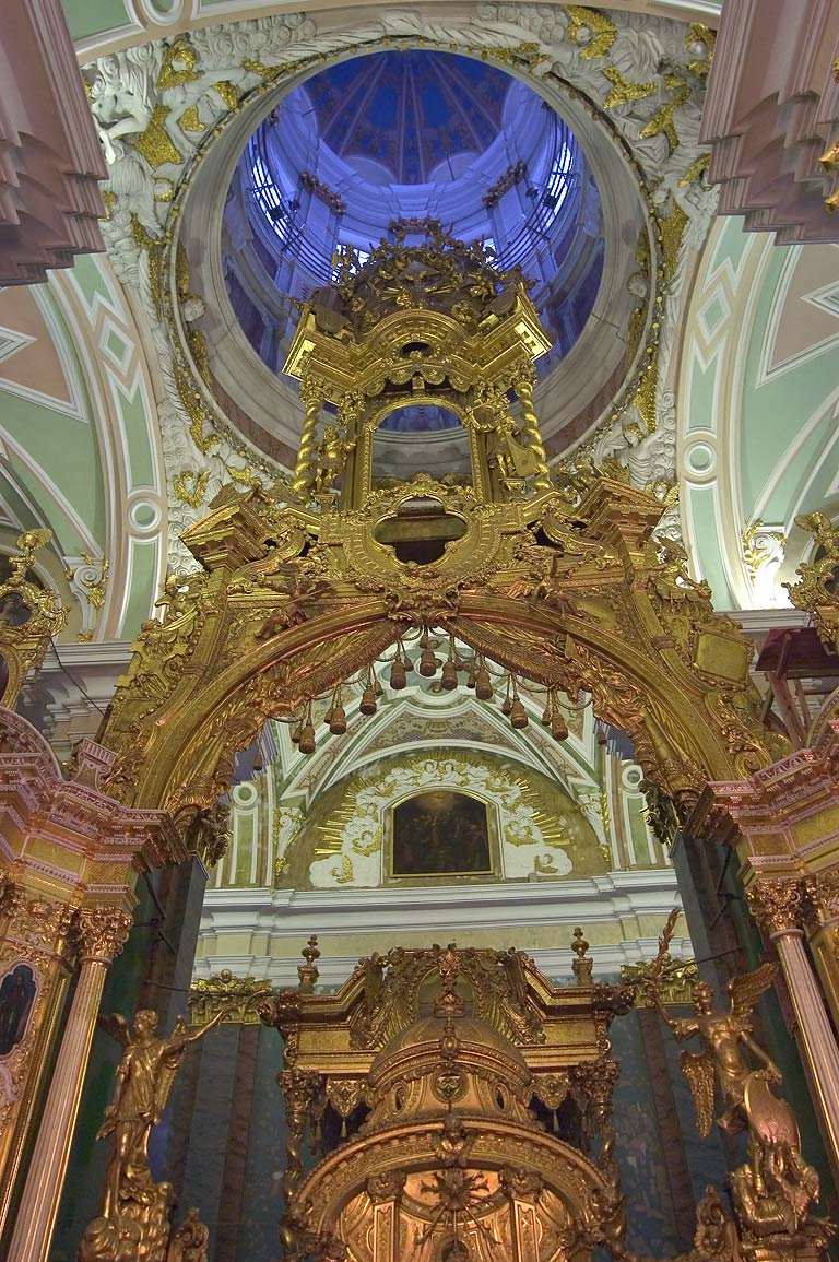 Altar of Peter and Paul Cathedral. St.Petersburg, Russia