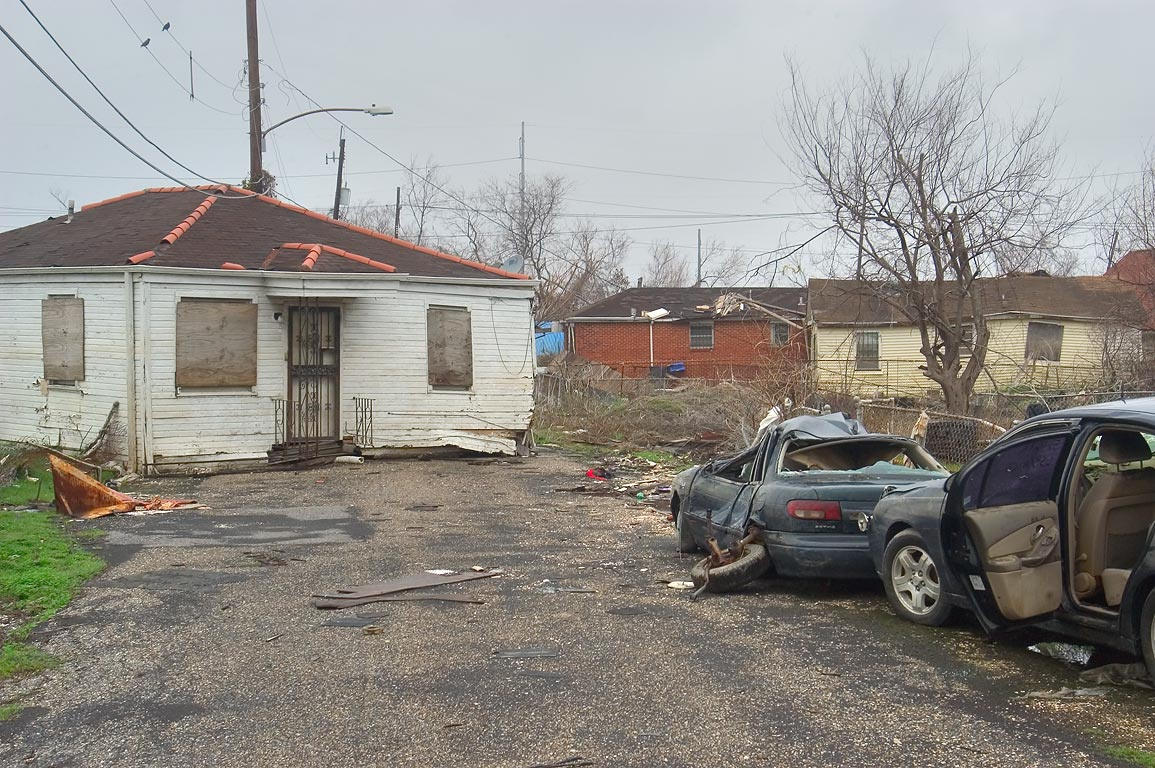 View from North Roffignac St. in Lower Ninth Ward. New Orleans, Louisiana