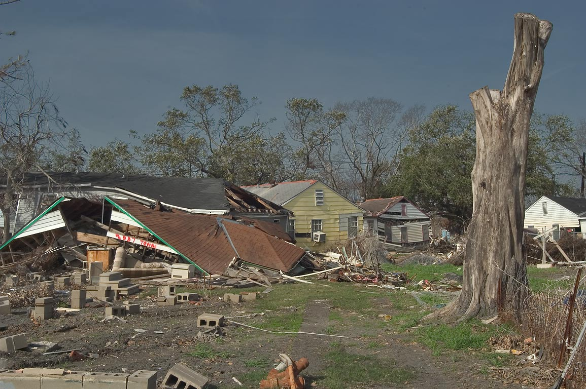 Ruins of a house at 2337 Tennessee St. in Lower Ninth Ward. New Orleans, Louisiana