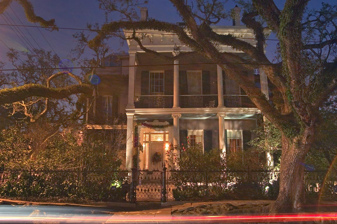 Rosegate-Anne Rice House at the corner of First...at evening. New Orleans, Louisiana