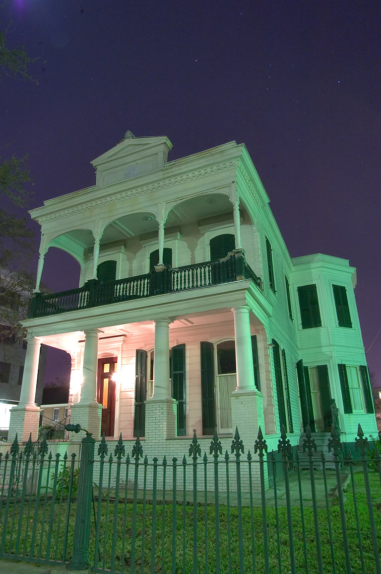 A house on St.Charles Ave. near First St. in...at evening. New Orleans, Louisiana