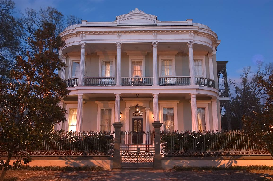 Robinson House (1862-66) at 1415 3rd St. in...at evening. New Orleans, Louisiana