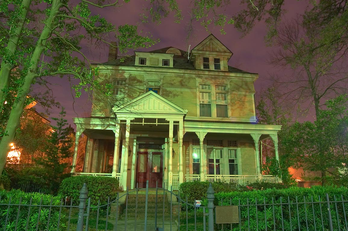Grant-Black House (1887) at 3926 St.Charles Ave...St. at evening. New Orleans, Louisiana