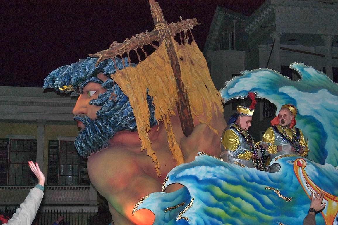"Float No. 16 ""Ulysses Outwits Charybdis"" of krewe...Charles Ave.. New Orleans, Louisiana"