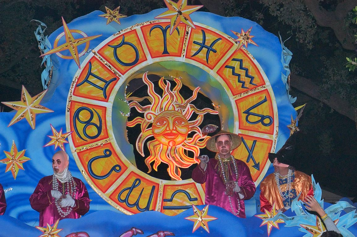 Rear end of king float of krewe of Proteus at...Charles Ave.. New Orleans, Louisiana
