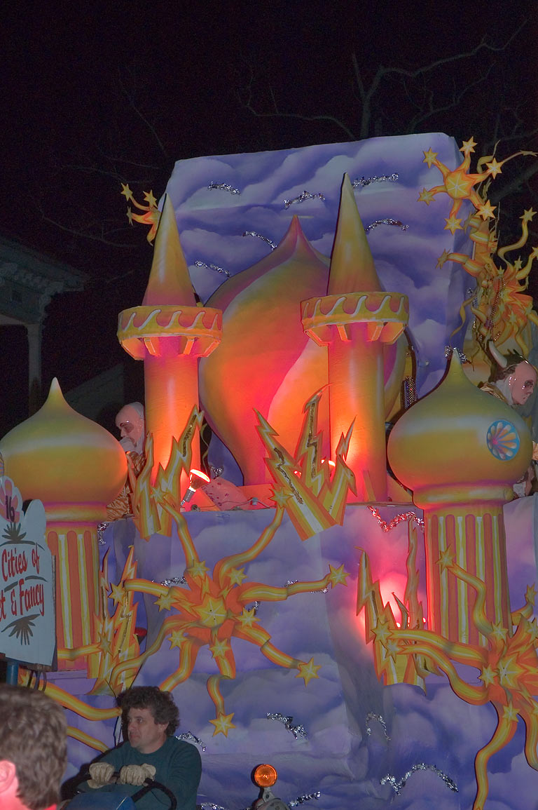 "Float No. 16 ""Cities of Fancy"" of krewe of...Charles Ave.. New Orleans, Louisiana"
