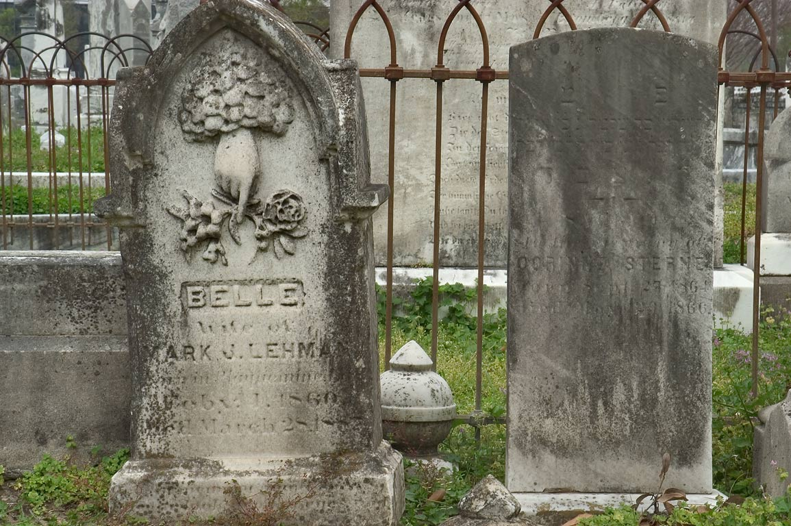 Tombs of Mark J. Lehman (1860 and Oobinne Sterne...Cemetery No. 1. New Orleans, Louisiana