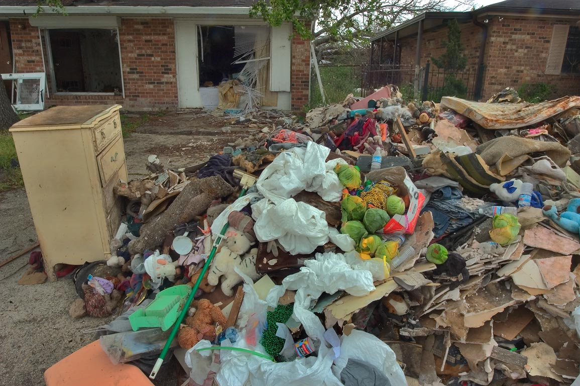 Accumulation of garbage with fresh contribution...Parish. Eastern New Orleans, Louisiana