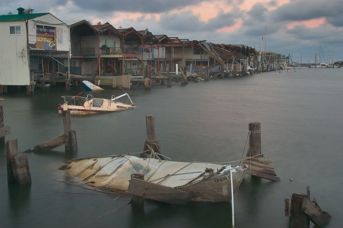 West End marina at Lake Pontchartrain at morning. New Orleans, Louisiana