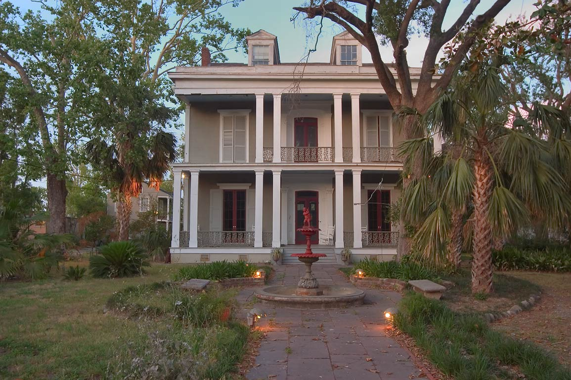 Benachi-Torre House (1859) at 2257 Bayou Rd., near Esplanade Ave.. New Orleans, Louisiana