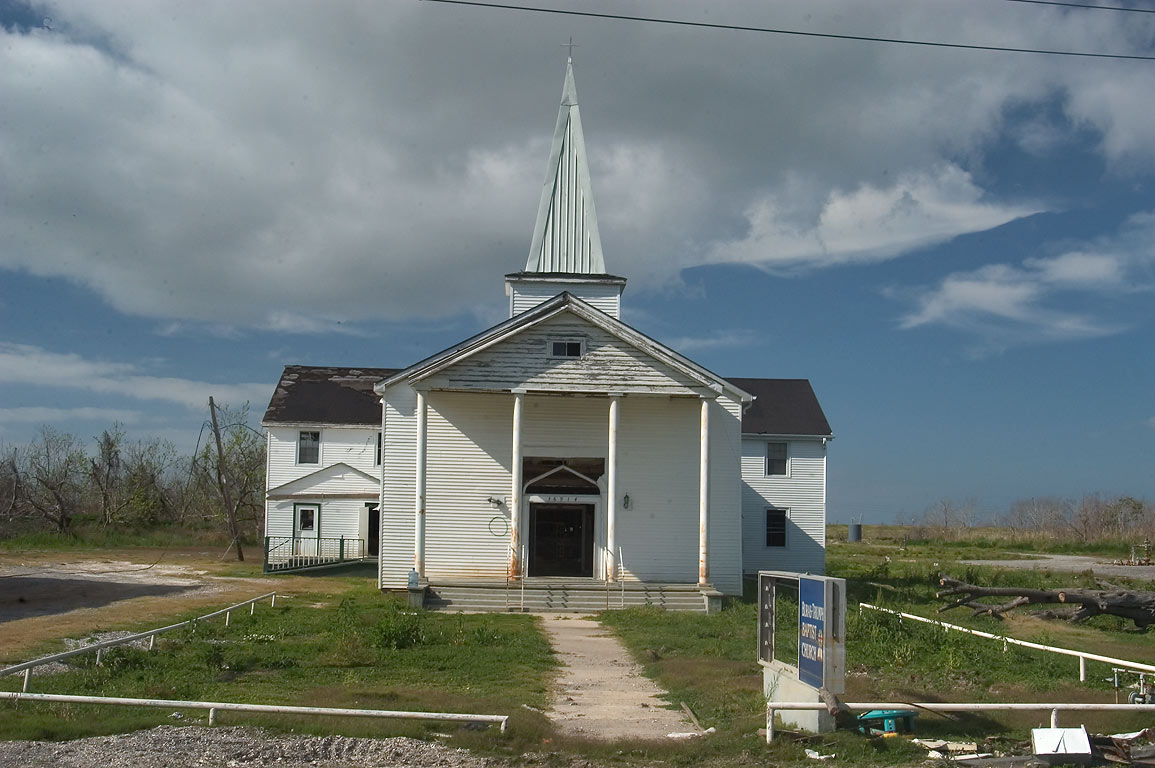 Buras-Triumph Baptist Church at 16914 Rd. 11. Plaquemines Parish, Louisiana