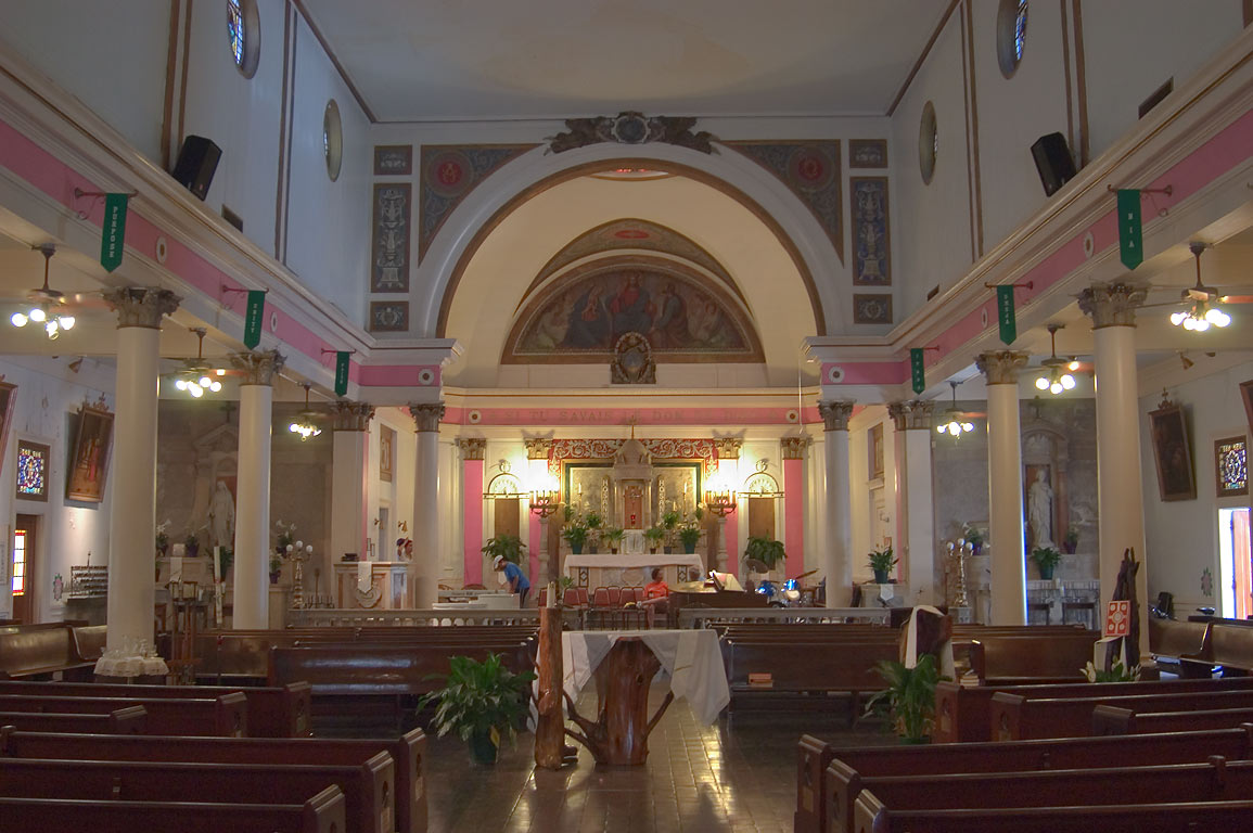 Interior of St.Augustine Catholic Church at 1210...St. in Treme. New Orleans, Louisiana
