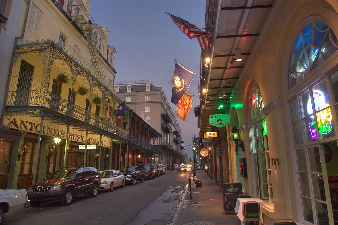 St.Louis St. near Royal St. in French Quarter. New Orleans, Louisiana