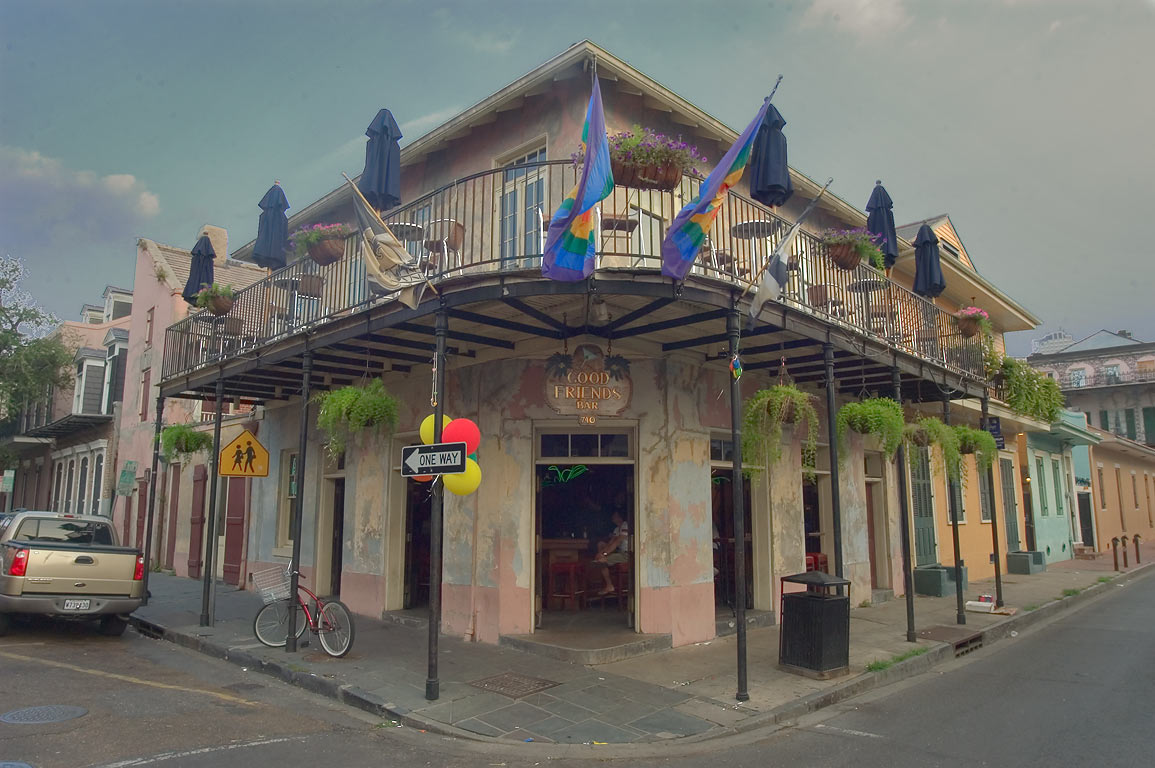 Good Friends Bar at a corner of Dauphine and St...French Quarter. New Orleans, Louisiana