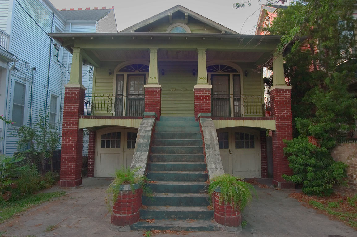 A house at 5009-5011 Camp St., near Robert St. in Uptown. New Orleans, Louisiana