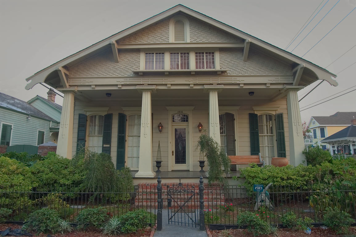 A house at 4936 Camp St., corner of Robert St. in Uptown. New Orleans, Louisiana