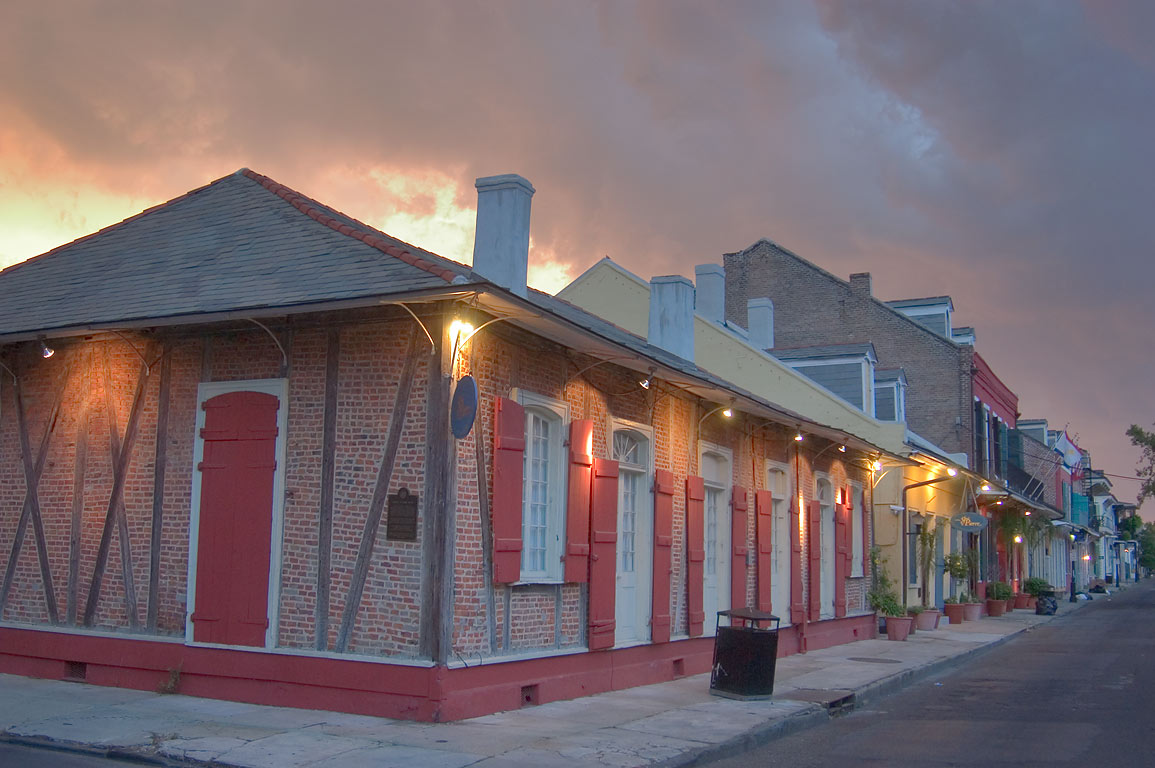 Gabriel Peyroux House (1780), now Hotel St.Pierre...French Quarter. New Orleans, Louisiana