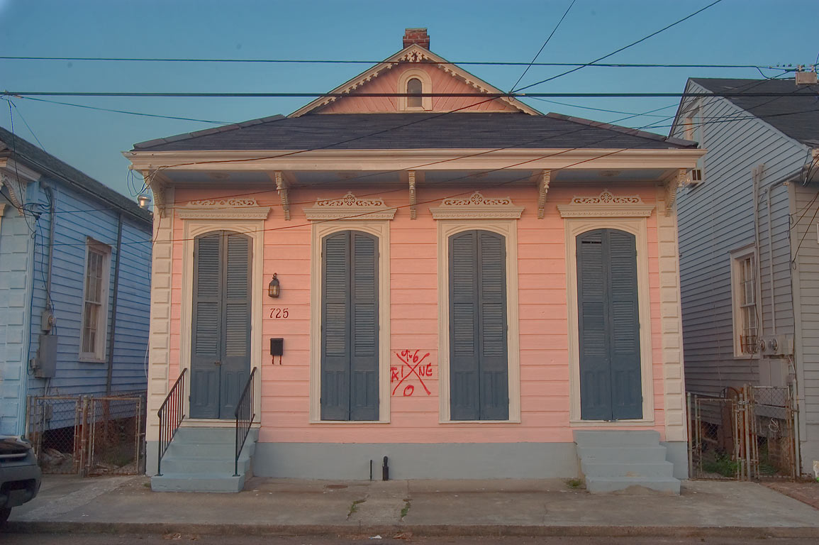 725 Congress St. near Dauphine St. in Bywater. New Orleans, Louisiana