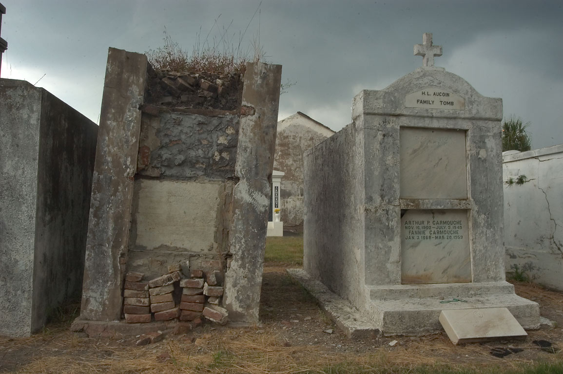 H. L. Aucoin family tomb and other tombs in St...Cemetery No. 2. New Orleans, Louisiana
