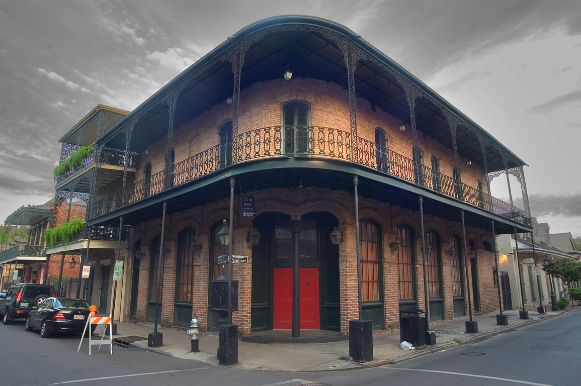 A corner of Ursulines and Royal streets in French Quarter. New Orleans, Louisiana