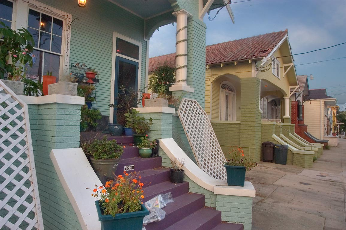 Near 2526 Chartres St. near St.Roch Ave. in Faubourg Marigny. New Orleans, Louisiana