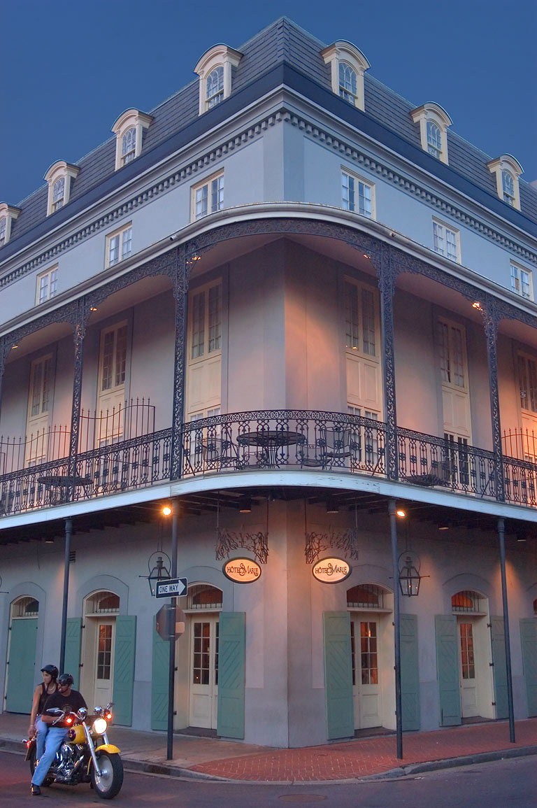Hotel St.Marie at a corner of Toulouse and...French Quarter. New Orleans, Louisiana