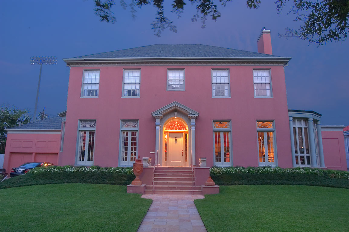 John Gatling mansion (1920) at 149 Audubon Blvd...St. at evening. New Orleans, Louisiana