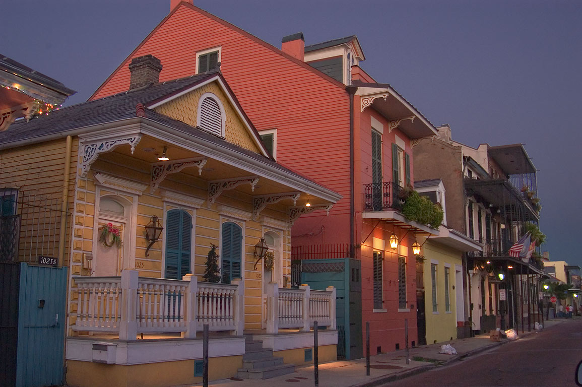 Orleans St. near Dauphine St. in French Quarter. New Orleans, Louisiana
