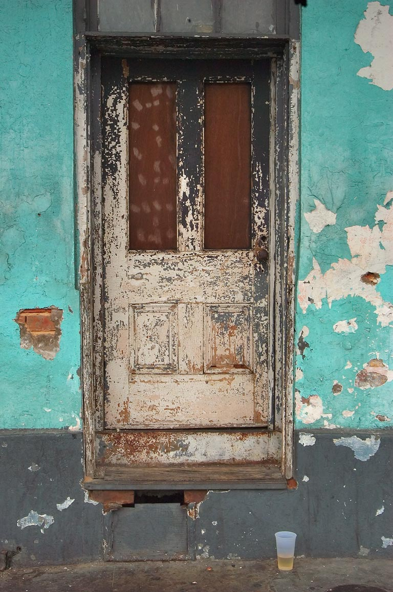 A door near Orlando's Society Page Lounge on...French Quarter. New Orleans, Louisiana