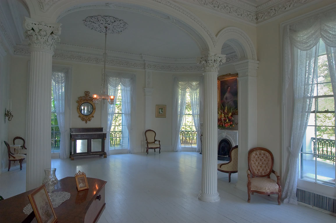 Wedding hall (white ballroom) in Nottoway Plantation in White Castle. Louisiana