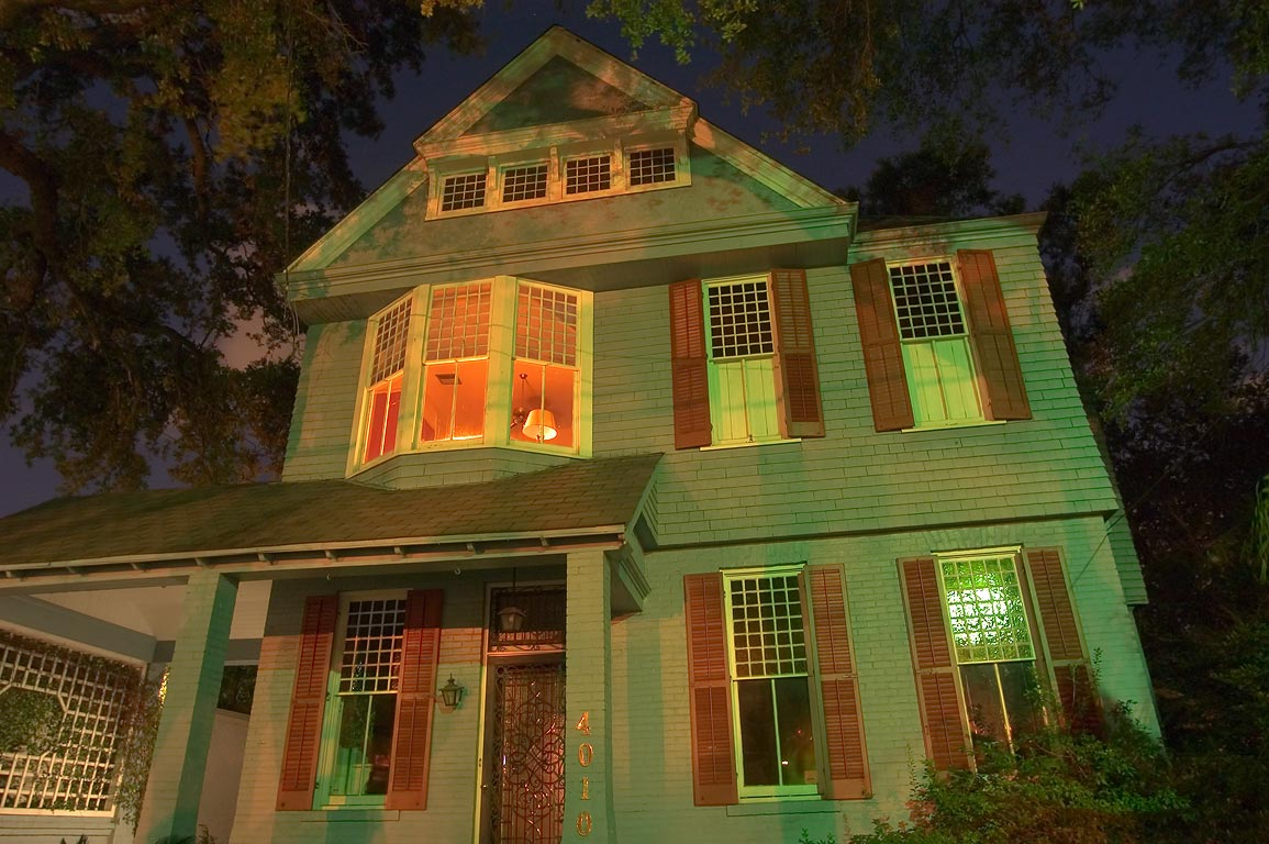 Sully-Peiser House (1886) at 4010 St. Charles Ave. at evening. New Orleans, Louisiana