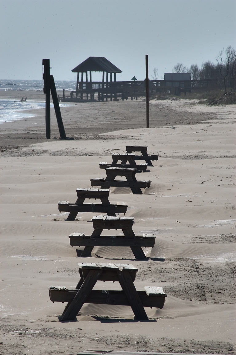 A beach of Grand Isle State Park. Jefferson Parish, Louisiana