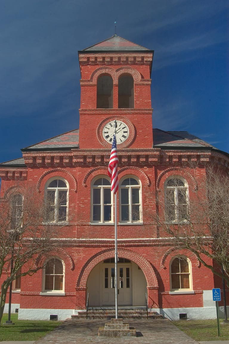 Ascention Parish Courthouse (c. 1889) at 300 Houmas St.. Donaldsonville, Louisiana