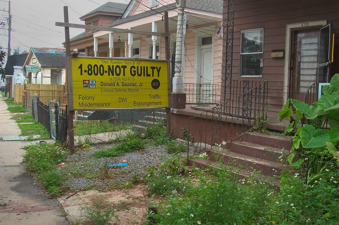 "Not Guilty"" lawyer's service near Orleans Parish...Tulane Ave.. New Orleans, Louisiana"