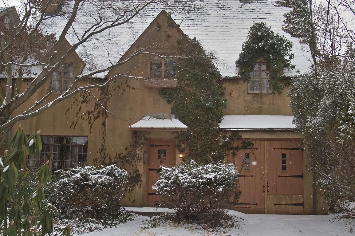 A house at Jefferson Rd. in snow. Princeton, New Jersey