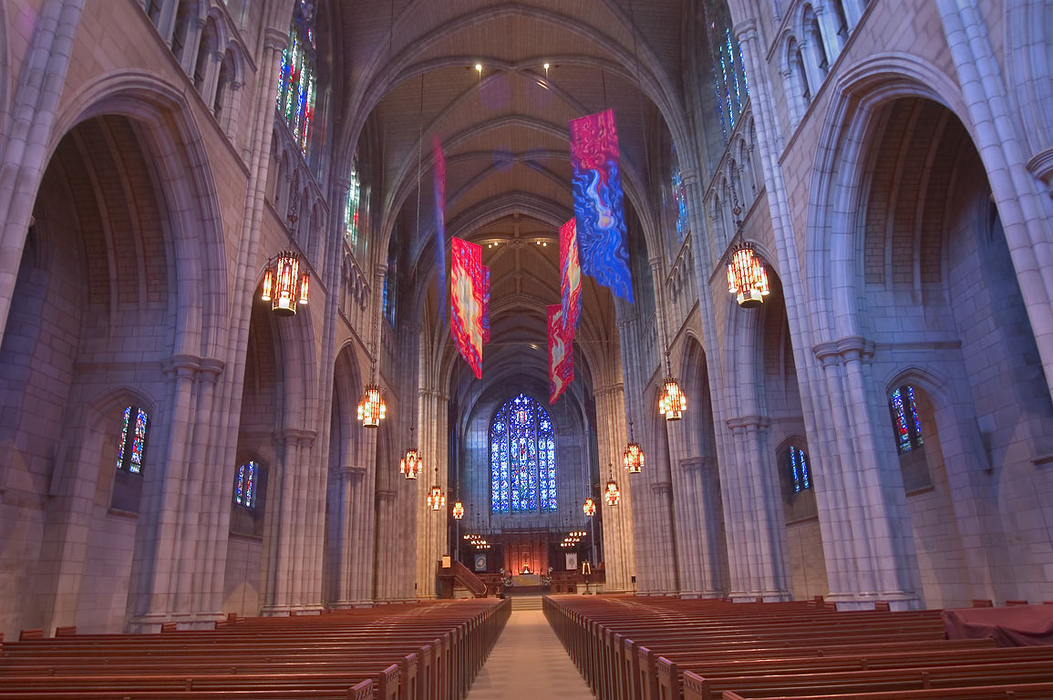 Interior of Princeton University Chapel. Princeton, New Jersey