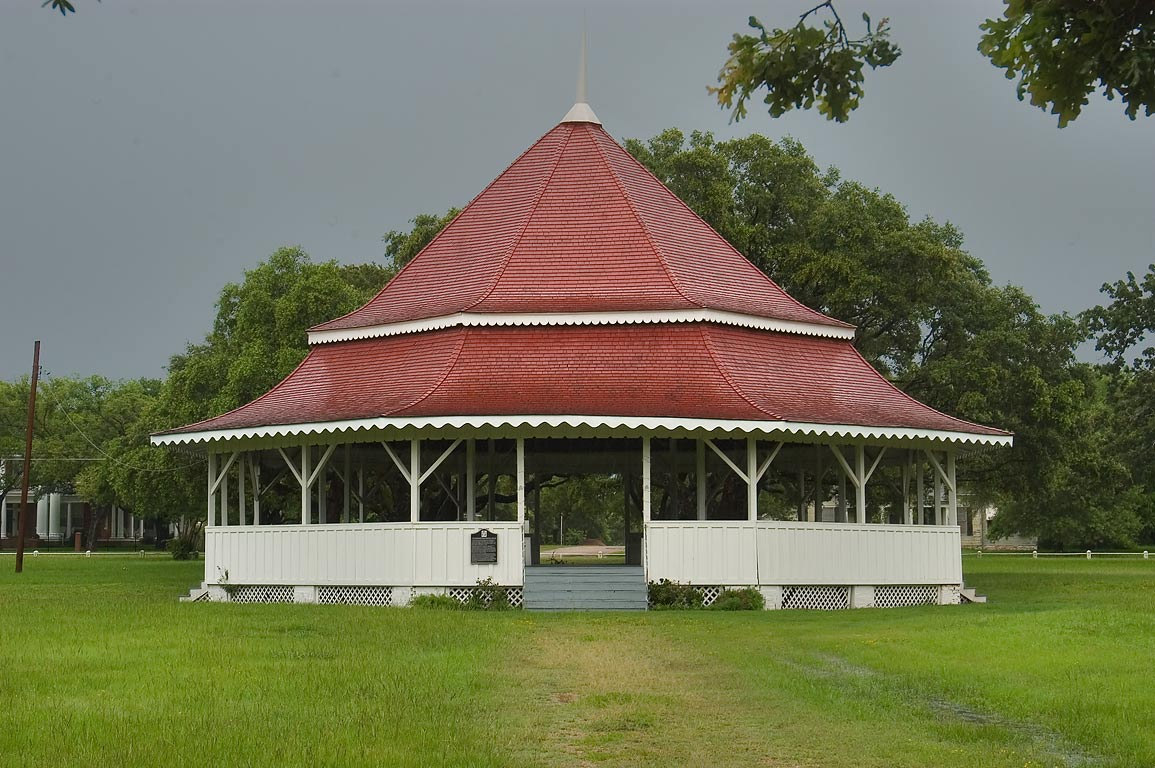 Virginia Field Park, with gazebo-style octogonal...in the center. Calvert, Texas