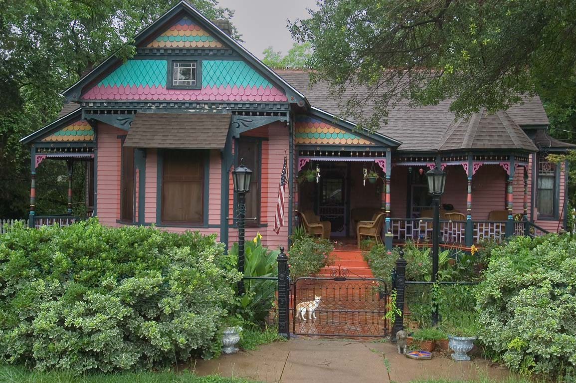 Victorian cottage (Fancher-Meredith-Mercer...corner of Pine streets. Calvert, Texas