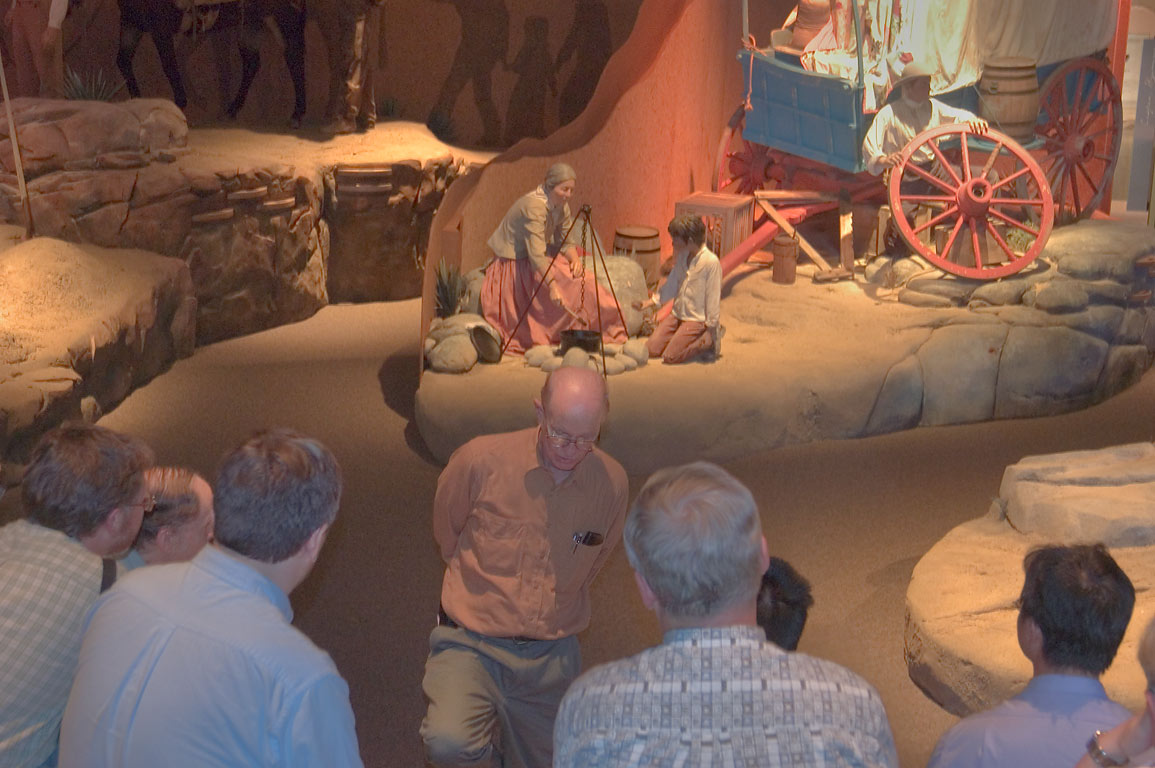 A group of participants of a physics workshop in...Interpretive Center. Casper, Wyoming