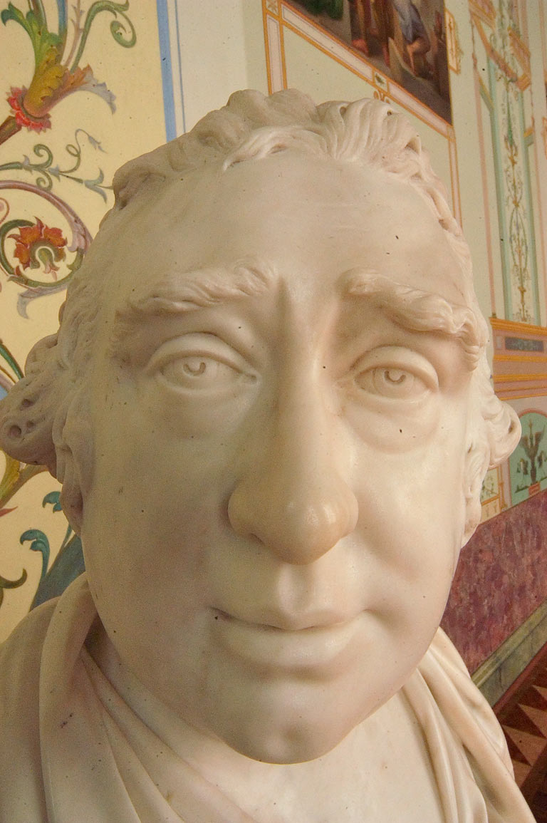 Marble face of Charles James Fox by Joseph...museum. St.Petersburg, Russia