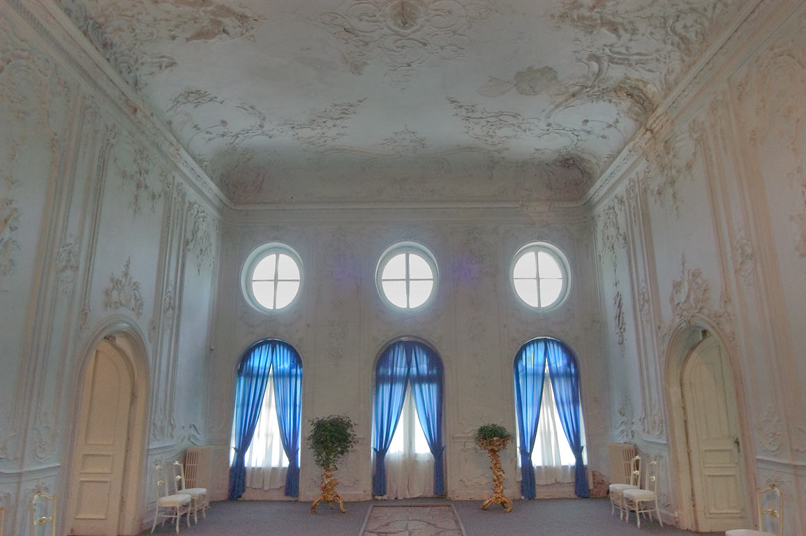 Interior of Menshikov Palace in Lomonosov (Oranienbaum). West from St.Petersburg, Russia