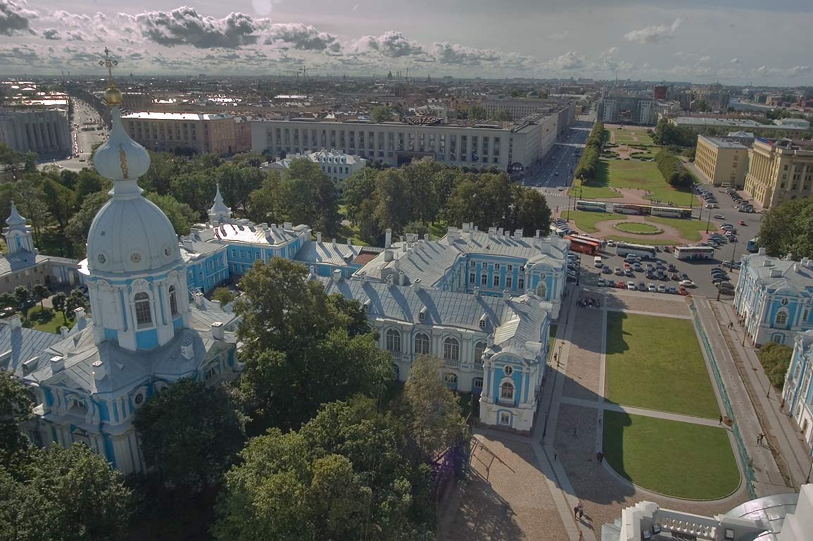 Shpalernaya St. from bell tower of Smolny Cathedral. St.Petersburg, Russia