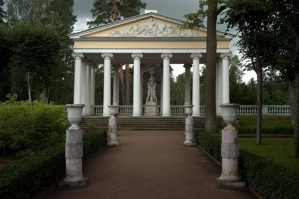 Pavilion of Three Graces in Own Little Gargen...a suburb of St.Petersburg, Russia