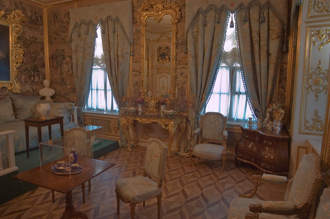 A room in Grand Palace. Peterhof, a suburb of St.Petersburg, Russia