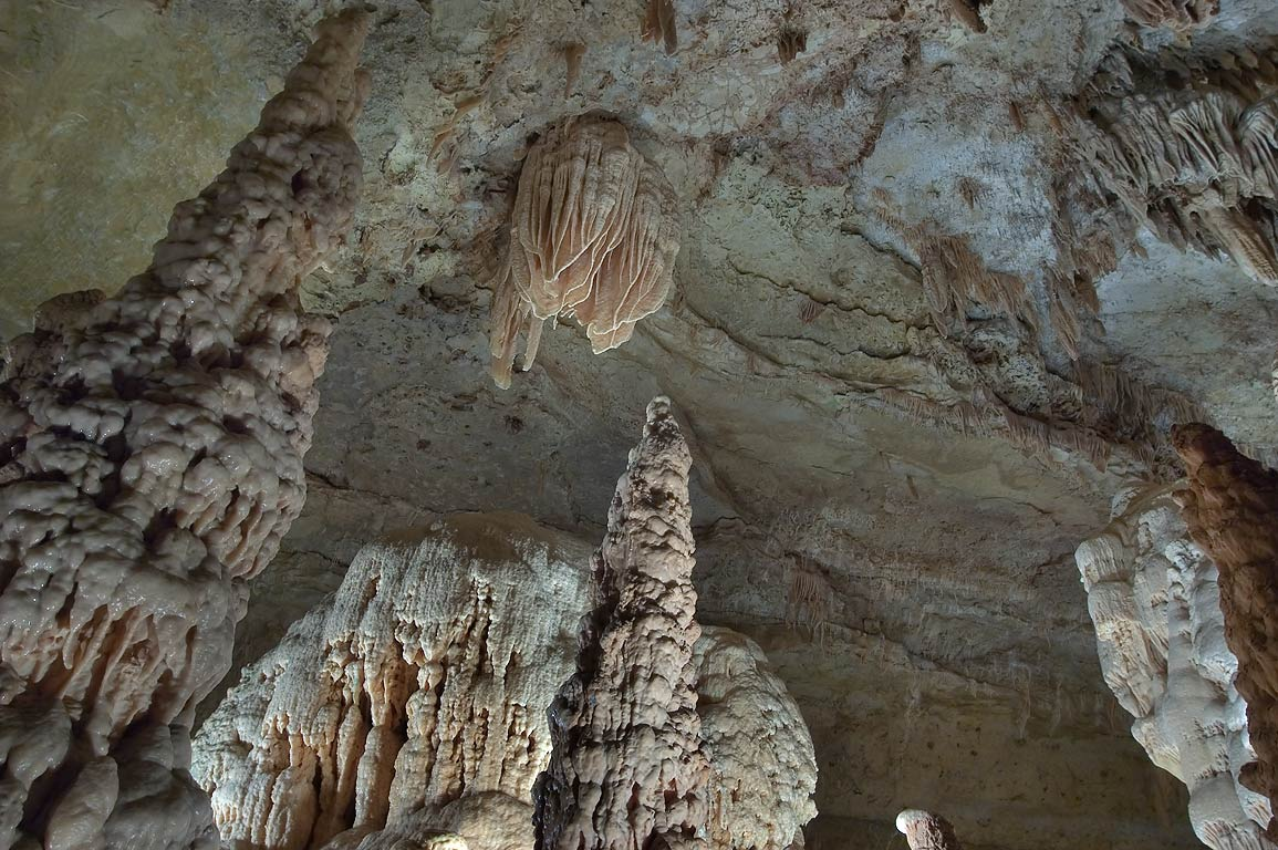 A cave in Northern Cavern in Natural Bridge Caverns. San Antonio, Texas