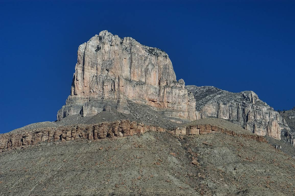 El Capitan Mountain, view from lower Roadside...Mountains National Park, Texas