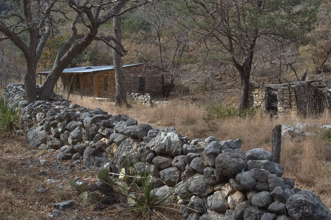 Hunter Line Cabin in McKittrick Canyon. Guadalupe Mountains National Park, Texas