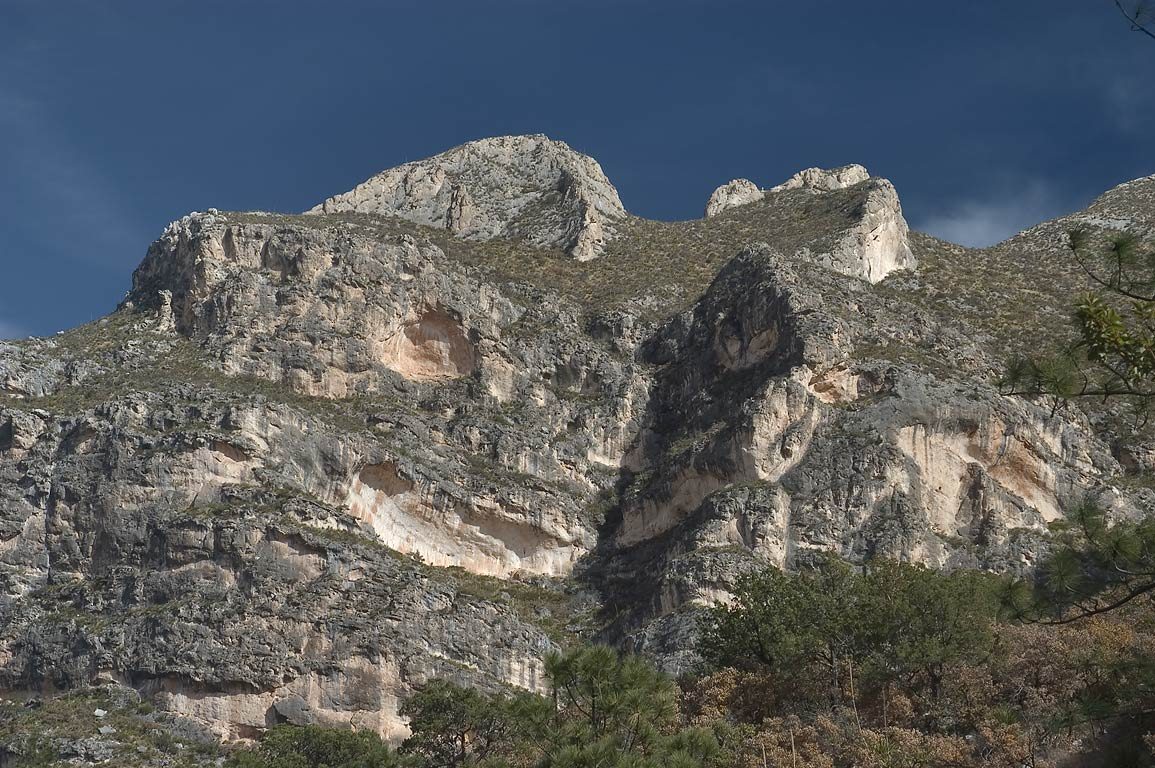 Slopes of Frijole Mountain from McKittrick Canyon...Mountains National Park, Texas