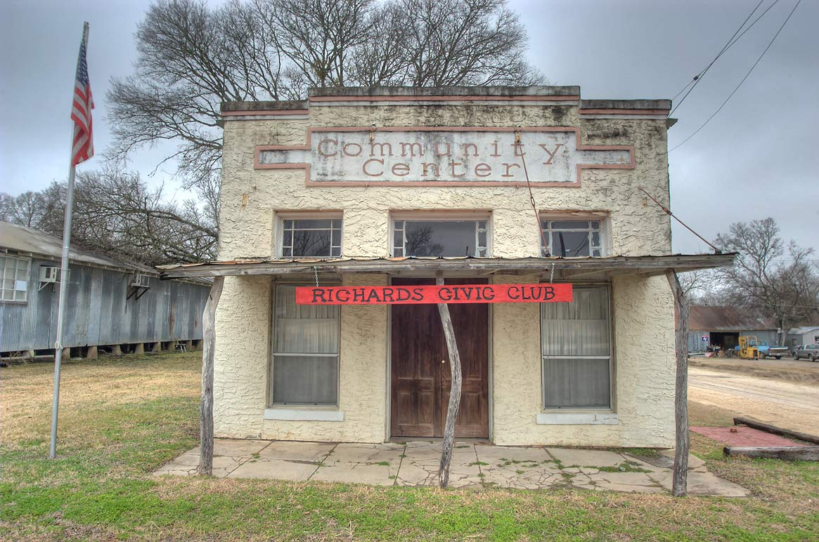 Community Center (Richards Civic Club) at Rd. 149. Richards, Texas